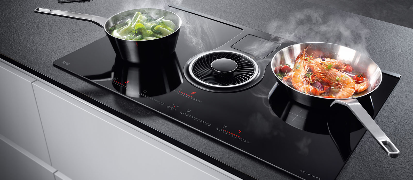 Gratis AEG inductie kookplaat met bladafzuiging!